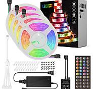 economico -ZDM® mt 4x5 Set luci Strisce luminose RGB 600 LED 5050 SMD 10mm 1 adattatore 12V 6A 1x connettore da 1 a 4 cavi 1Impostare la staffa di montaggio 1 set Colori primari Natale Capodanno Accorciabile