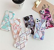 economico -telefono Custodia Per Apple Per retro iPhone 12 Pro Max 11 SE 2020 X XR XS Max 8 7 6 Con supporto Placcato IMD Geometrica Effetto marmo TPU
