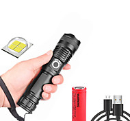 abordables -xhp50 Lampes Torches LED Imperméable 3000 lm LED LED 1 Émetteurs 5 Mode d'Eclairage avec Piles avec Pile et Câble USB Imperméable Professionnel Durable Terrifiant Camping / Randonnée / Spéléologie
