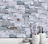 abordables -20x10 cm x 9 pcs gris clair pierre brique stickers muraux rétro étanche à l'huile imperméable carrelage papier peint pour cuisine salle de bains sol mur maison décoration