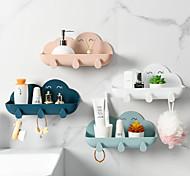 abordables -forme de nuage boîte à savon sans poinçon porte-clés plats de rangement à la maison salle de bain support de cuisine plateau accessoires salle de bains gadgets