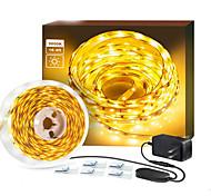 economico -Strisce luminose a led flessibili 2x5m misuratore pper flessibile 120 led 2835 smd striscia luminosa a led ad alta luminosità con interruttore dimmer e adattatore 12v