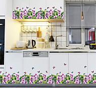 abordables -Pied Ligne Plinthe Couverture Wall Decal Coin Autocollants Vert Herbe Papillon Décor À La Maison DIY Vinyle Peintures Murales Pour Verre Salon