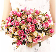 abordables -lai roses bouquet décoration de la maison roses éternelles atmosphère de mariage décoration tenant des fleurs
