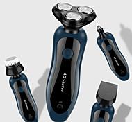 abordables -4 en 1 rasoir rasoir électrique usb rechargeable 3 lames portable barbe nez tondeuse à cheveux machine de découpe