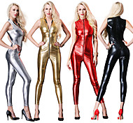 abordables -Combinaison Morphsuit Costume de Cosplay Combinaison-pantalon Ninja Adulte Costumes de Cosplay Halloween Femme Couleur unie Carnaval Mascarade / Collant / Combinaison / Costume Zentai