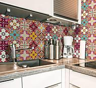 abordables -Creative cuisine étanche à l'huile et à l'eau carrelage autocollant auto-adhésif amovible style marocain protection de l'environnement pvc wall sticker
