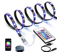 economico -ZDM® 3M Strisce luminose RGB Luci intelligenti 90 LED 5050 SMD 10mm 1 telecomando da 24Keys 1 cavi CC Controller WiFi 1 set Colori primari Controllo APP Accorciabile USB Alimentazione USB