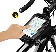 abordables -Sac Cadre Velo Sacoche de Guidon de Vélo 6.2 pouce Cyclisme pour Tous Téléphone Portable Téléphones de taille similaire Noir et rouge Noir Cyclotourisme