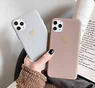 economico -telefono Custodia Per Apple Per retro iPhone 12 Pro Max 11 SE 2020 X XR XS Max 8 7 6 Resistente agli urti Effetto ghiaccio Fantasia / disegno Con cuori Tinta unica TPU