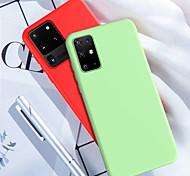 economico -telefono Custodia Per Samsung Galaxy Per retro Silicone Custodia in silicone S20 Plus S20 Ultra S20 Resistente agli urti Tinta unita TPU Silicone