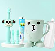 abordables -Ensemble de 5 pièces de brosse à dents pour enfants à 360 degrés pour la formation des nourrissons conception sûre silicone doux et sain se brosser les dents