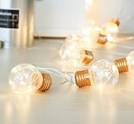 abordables -lumières de fête de fête menées guirlande extérieure guirlande guirlande guirlande étanche 4m 10 ampoules pour les événements de mariage lumières bar de fête de jardin décor de bistro éclairage blanc