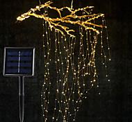 economico -ramo di viti di energia solare ha condotto la stringa set di luci 2m x 10 ramo 200led esterno impermeabile giardino recinzione albero ha condotto la stringa flessibile ramo fata cortile luminoso