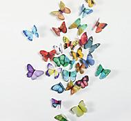 abordables -animaux / stickers muraux 3d stickers muraux 3d / stickers muraux animaux stickers muraux décoratifs, pvc décoration de la maison sticker mural décoration de mur / réfrigérateur 1 pc 21 * 29.7 cm