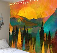abordables -tapisserie murale art décor couverture rideau pique-nique nappe suspendu maison chambre salon dortoir décoration paysage montagne doré coucher de soleil lever du soleil forêt encre