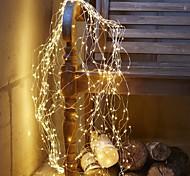 abordables -10m Guirlandes Lumineuses 100 LED 1pc Blanc Chaud Blanc Plusieurs Couleurs La Saint-Valentin Noël Intérieur Soirée Décorative Batteries alimentées