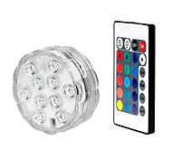 economico -esterno 1 set luci sommerse a led per piscina lampada a led rgb impermeabile con luce decorativa remota 8.5cm-con telecomando a 28 tasti