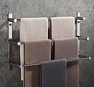 economico -Mensola bagno multistrato portasciugamani lucido nuovo design portasciugamani bagno in acciaio inox a parete 3 strati