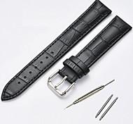 economico -Cuoio Cinturino per orologio  Nero / Marrone 20 cm / 7,9 pollici 1,4 cm / 0,55 pollici / 2 cm / 0,8 pollici