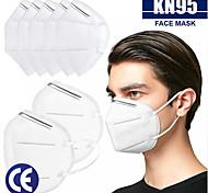 economico -20 pcs KN95 Maschera Mascherina Respiratore Protezione Disponibile Filtro in tessuto soffiato fuso Bianco