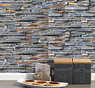 abordables -20x10 cm x 9 pcs rustique pierre brique stickers muraux rétro étanche à l'huile imperméable carrelage papier peint pour cuisine salle de bains sol mur maison décoration