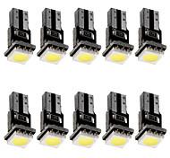 abordables -T5 canbus led voiture tableau de bord indicateur jauge lumière 12 v dc led lampe ampoule blanc couleur 10 pcs