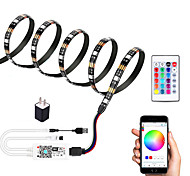 economico -1m Strisce luminose LED flessibili Set luci Strisce luminose RGB 30 LED SMD5050 10mm 1 telecomando da 24Keys 1 set Multicolore Impermeabile Controllo APP USB 5 V