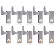 economico -10 pezzi 3 W 1200 lm 3 Perline LED Romantico Creativo Facile da installare Luci sottopensile Luci LED per mobili Bianco caldo Bianco 12 V Casa / ufficio Cameretta dei bambini Cucina
