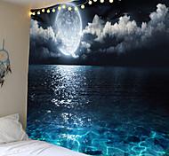 abordables -tapisserie murale art décor couverture rideau pique-nique nappe suspendu maison chambre salon dortoir décoration paysage pleine lune nuit mer océan nuage étoile ciel