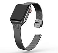 abordables -1 pièces Bracelet de Montre  pour Apple  iWatch Bracelet Milanais Acier Inoxydable Sangle de Poignet pour Apple Watch Series SE / 6/5/4/3/2/1