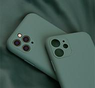 economico -telefono Custodia Per Apple Per retro Silicone Custodia in silicone iPhone 12 Pro Max 11 Pro Max iPhone 11 iPhone 11 Pro iPhone 11 Pro Max Resistente agli urti Tinta unita Silicone Gel di silice