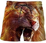 abordables -Homme Sportif Exagéré Grandes Tailles Slim Joggings Short Pantalon 3D 3D Print Animal Court Imprimé Arc-en-ciel