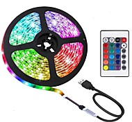 economico -BRELONG® 2m Strisce luminose RGB 60 LED 5050 SMD 10mm 1 telecomando da 24Keys 1pc Colori primari Impermeabile Accorciabile USB 5 V / Auto-adesivo