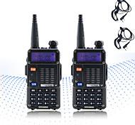 cheap -2PCS BAOFENG 5RT 8W 2800mAh Handheld Dual Band 5KM-10KM Walkie Talkie Two Way Radio / 136-174MHz / 400-520MHz Intercom Small Radio Preofessional FM Transceiver