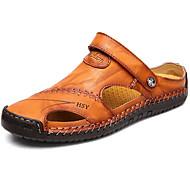 abordables -sandales en cuir cousues à la main menico pour hommes