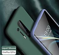economico -telefono Custodia Per OnePlus Per retro Silicone Custodia in silicone OnePlus 8 Pro OnePlus 8 OnePlus 7 Oneplus 7 pro uno più 7T uno più 7T Pro Effetto ghiaccio Tinta unita Silicone Gel di silice