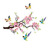 economico -fiori di prugna rami gazze adesivo da parete decalcomanie in pvc room decor poster home decor 70 * 80cm