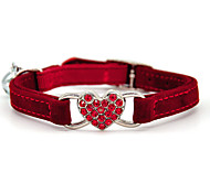 abordables -Chien Chat Cravate / Noeud Papillon Strass Noeud Papillon Manches Pagode Chiens & Chats Décoration Cœur Strass Amour Métallique Tissu Pelouche Noir Rouge Bleu Rose 1 pc