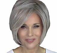 economico -Parrucche sintetiche Diritto naturale Bob corto Parrucca Corto Grigio Capelli sintetici 14 pollice Per donna Da donna Facile da indossare Soffice Bianco