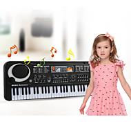 economico -Tastiera elettronica Microfono Pianoforte Funziona con iPad, iPod touch e iPhone. Istruzione Chiave multifunzione 61 Plastica Unisex Da ragazzo Da ragazza Bambino Per bambini 1 pcs Regali di laurea