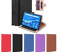abordables -téléphone Coque Pour Tablettes Lenovo Coque Intégrale M10 Plus TB-X606F Porte Carte Antichoc Couleur Pleine TPU