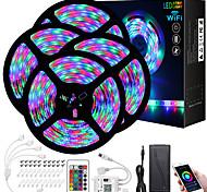 economico -ZDM® mt 4x5 Set luci Strisce luminose RGB 1080 LED 2835 SMD 8mm 1 telecomando da 24Keys 1x connettore da 1 a 4 cavi 1Impostare la staffa di montaggio 1 set Colori primari Natale Capodanno / 12