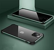 economico -telefono Custodia Per Apple Integrale Custodia ad adsorbimento magnetico iPhone 11 iPhone 11 Pro iPhone 11 Pro Max A calamita Doppia setola Trasparente Tinta unita Vetro temperato Metallo
