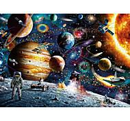 abordables -Puzzle Jeux Avec Pions en Bois Jouet Educatif Papier carton Adolescent Adulte Astronaute Espace Jouets de décompression 1000 pcs 6 ans et +