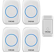 abordables -cacazi a10g sonnette sans fil auto-alimenté sans piles bouton étanche 120 m télécommande led lumière maison sans fil cloche 38 carillons