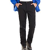 abordables -Homme Pantalon de Randonnée Pantalon Softshell Couleur unie Hiver Extérieur Etanche Coupe Vent Doublure Polaire Chaud Pantalons / Surpantalons Bas Noir Grise Vert foncé Bleu Marine Chasse Ski Pêche S