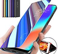 economico -telefono Custodia Per Samsung Galaxy Integrale Custodia in pelle Custodia flip S20 Plus S20 Ultra S20 S9 S9 Plus S8 Plus S8 Bordo S7 S7 A91 / M80S Con supporto A specchio Con chiusura magnetica Tinta