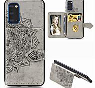 economico -telefono Custodia Per Samsung Galaxy Per retro Custodia in pelle Custodia ad adsorbimento magnetico S20 Plus A51 Galaxy A71 A portafoglio Porta-carte di credito Decorazioni in rilievo Fiore decorativo