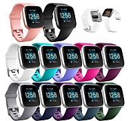 economico -Cinturino intelligente per fitbit versa 2 Fitbit 1 pcs Cinturino sportivo Silicone Sostituzione Custodia con cinturino a strappo per Fitbit Versa Lite Fitbit Versa2 23 millimetri